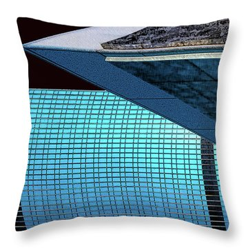 Structures West 3 Throw Pillow by Bruce Iorio