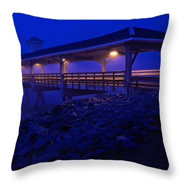 Once In A Blue Mood Throw Pillow