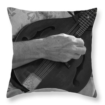 Strumming  Throw Pillow