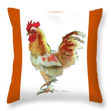 Throw Pillow featuring the painting Strut Your Stuff 4 by Kathy Braud