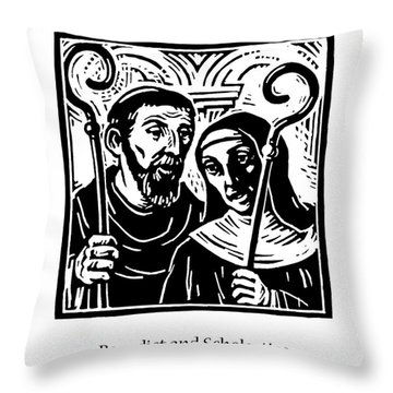 Sts. Benedict And Scholastica - Jlbas Throw Pillow