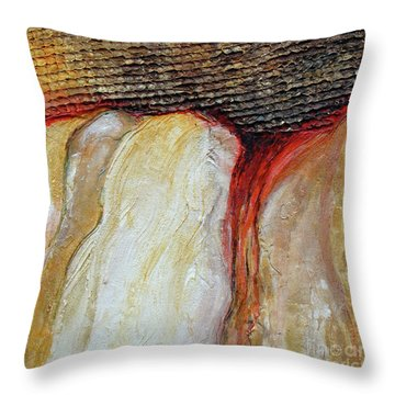 Stucco Canyon Throw Pillow