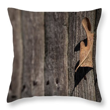 Throw Pillow featuring the photograph Stuck by Karol Livote