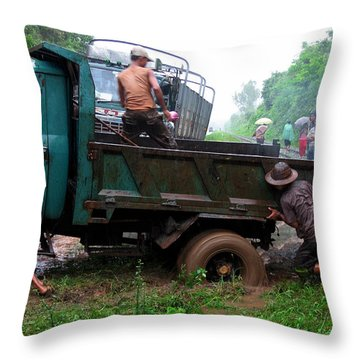 Stuck Throw Pillow by RicardMN Photography