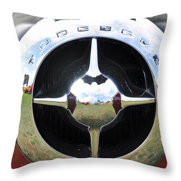 Throw Pillow featuring the photograph Studebaker Chrome by Glenn Gordon