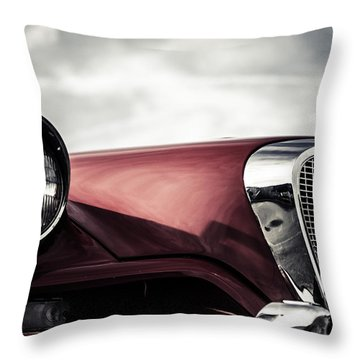 Studebaker Grille  Throw Pillow by Off The Beaten Path Photography - Andrew Alexander