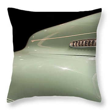Throw Pillow featuring the photograph Studebaker by Patricia Hofmeester