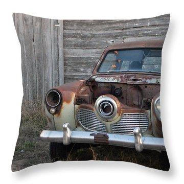 Studebaker Throw Pillow by Renie Rutten