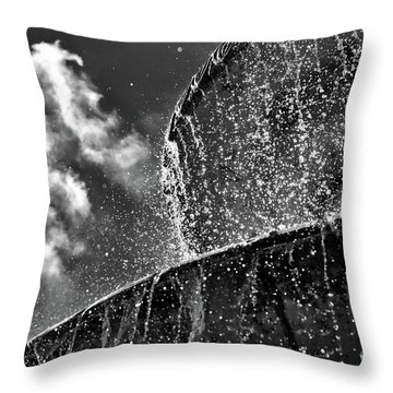 Students Fountain Throw Pillow by Juergen Klust