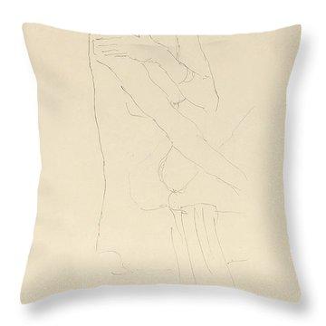 Study For Adele Bloch Bauer II Throw Pillow by Gustav Klimt