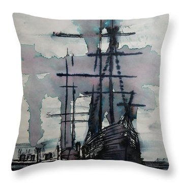 Study For Sailing Vessel Pandora Throw Pillow
