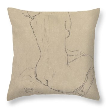 Study For The Virgin Throw Pillow