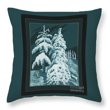 Throw Pillow featuring the painting Study For Winter Trees Of Life 299 by William Hart McNichols
