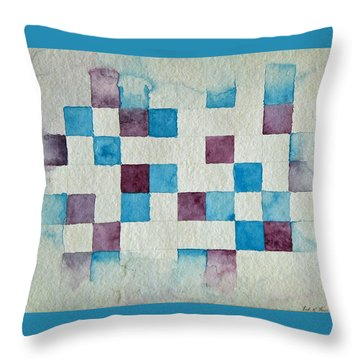 Study In Blue And Violet Throw Pillow