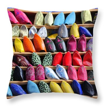 Throw Pillow featuring the photograph Study In Color by Ramona Johnston