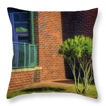 Study In Composition  And Balance Throw Pillow