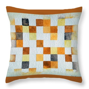 Study In Yellow And Gold Throw Pillow