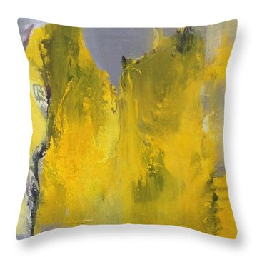 Study In Yellow And Grey Throw Pillow