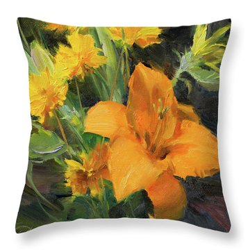 Study In Yellow Throw Pillow by Anna Rose Bain