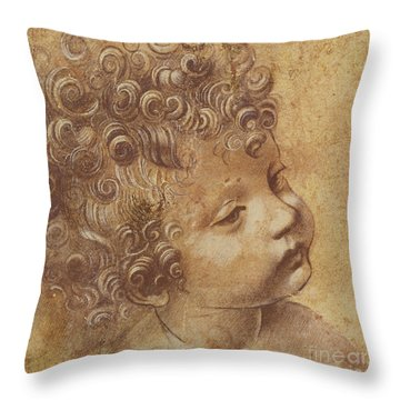 Study Of A Child's Head Throw Pillow