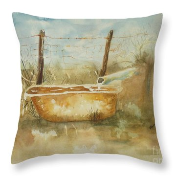 Study Of A Watering Tub Throw Pillow