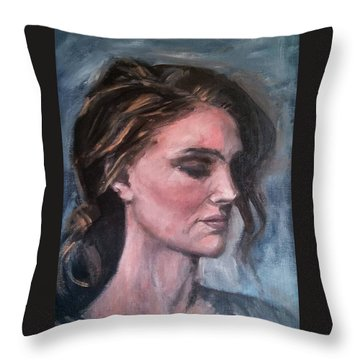 Study Of A Woman In Moonlight #1 Throw Pillow by Brian Kardell