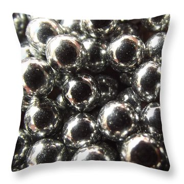Study Of Bb's, An Abstract. Throw Pillow