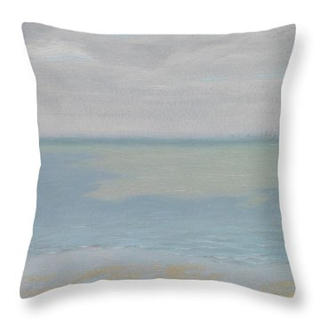 Study Of Sky And Sea Throw Pillow by Herbert Dalziel