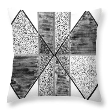 Study Of Texture Line And Materials Throw Pillow by Peter Piatt
