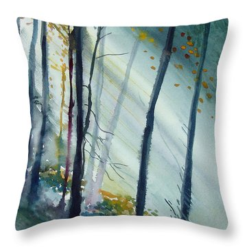 Study The Trees Throw Pillow by Allison Ashton