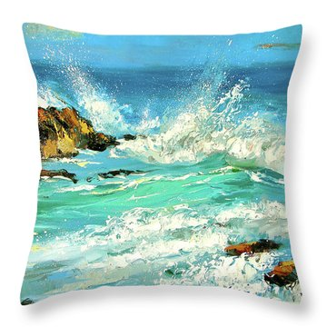 Study Wave Throw Pillow