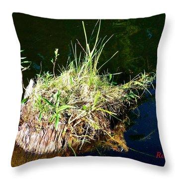 Stump Art 11 Throw Pillow by Sadie Reneau