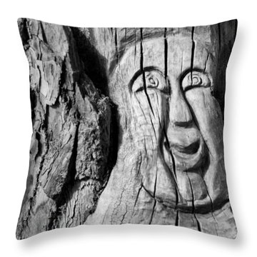 Stump Face 3 Throw Pillow