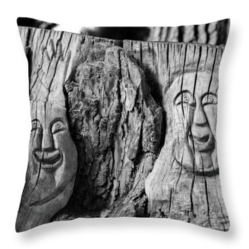 Stump Faces 2 Throw Pillow