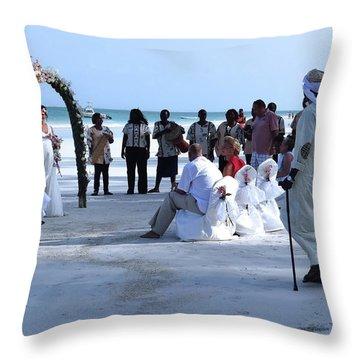 Stunning Kenya Beach Wedding Throw Pillow
