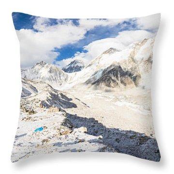 Stunning Nepal - Ebc Throw Pillow