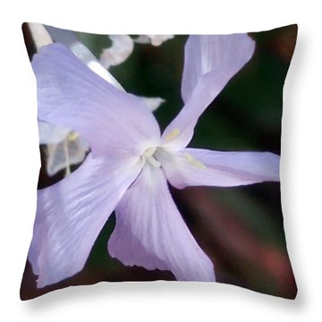 Stunning New Mexico Purple Wildflower Throw Pillow