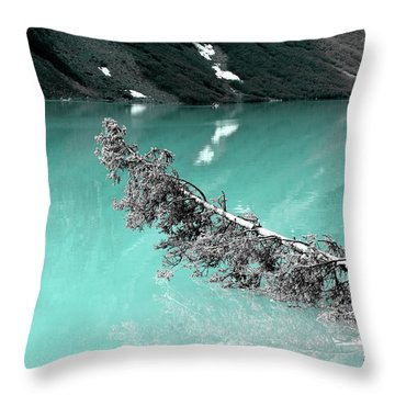 Stunning Turquoise Glacial Lake Throw Pillow