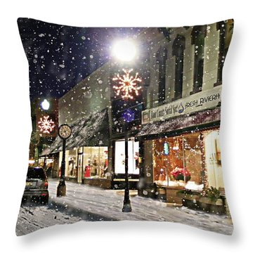 Sturgeon Bay On A Magical Night Throw Pillow