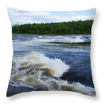 Sturgeon Falls Manitoba Throw Pillow