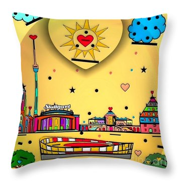 Stuttgart By Nico Bielow Throw Pillow