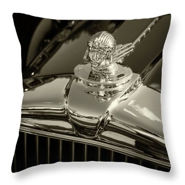 Stutz Hood Ornament Throw Pillow