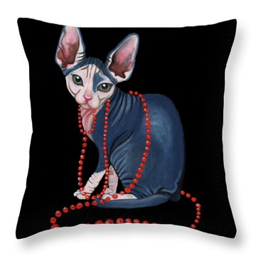 Stylish Sphynx Throw Pillow