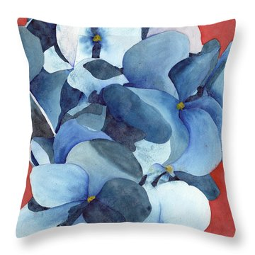 Stylized Hydrangea Throw Pillow