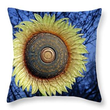 Stylized Sunflower Throw Pillow