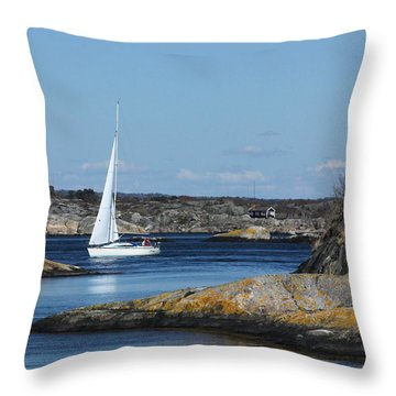 Styrso, Sweden Throw Pillow