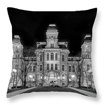 Su Hall Of Languages Throw Pillow