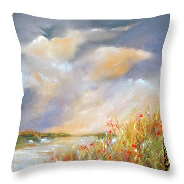 Subdued Light Throw Pillow