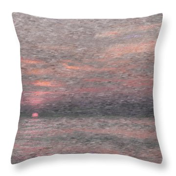 Subdued Sunset Throw Pillow