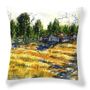 Suber Road Barns Throw Pillow
